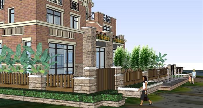 某欧式详细完整的小区住宅建筑su模型[原创]