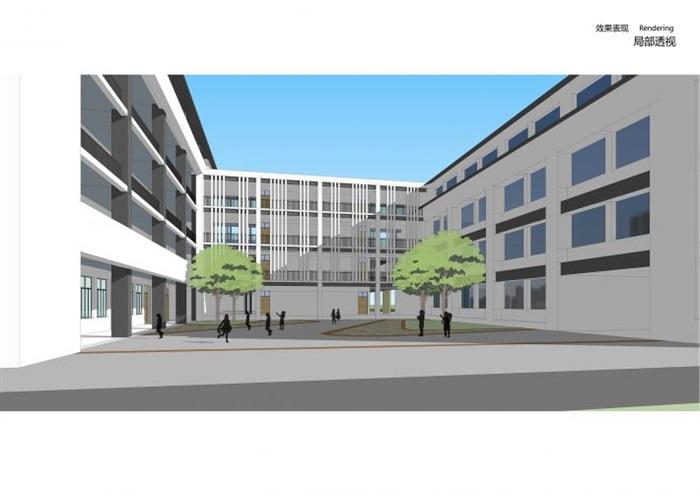 新中式东台小学建筑规划方案su模型[原创]