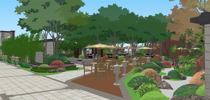 新中式山河一品售楼处及景观示范区SU模型(2)