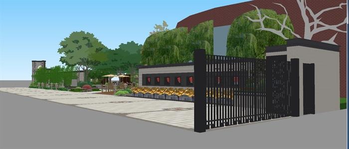新中式山河一品售楼处及景观示范区SU模型(6)