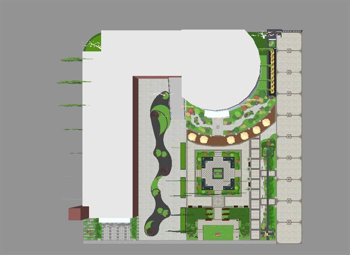 新中式山河一品售楼处及景观示范区SU模型(10)
