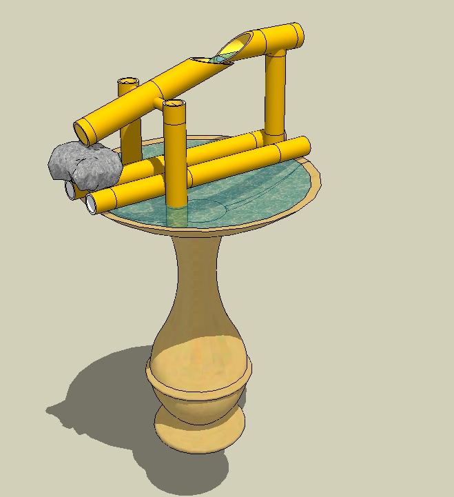 五个竹制景观小品SU模型(4)
