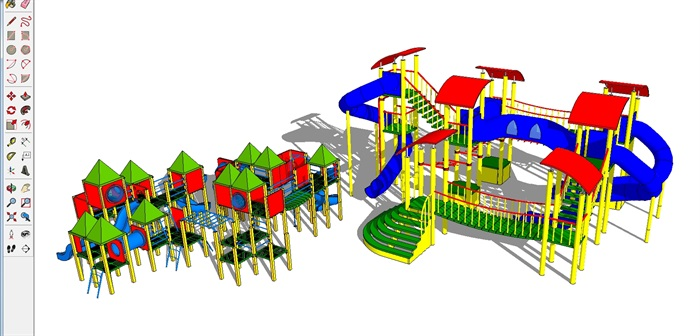 三个儿童游乐设施SU模型(1)