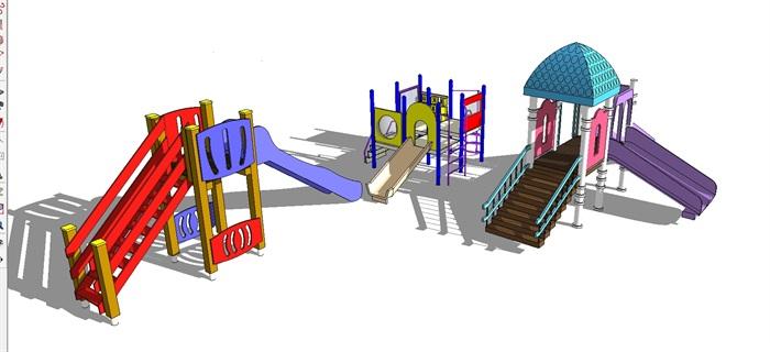 三个儿童游乐设施SU模型(2)