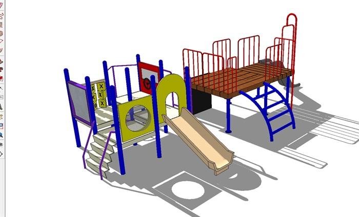 三个儿童游乐设施SU模型(3)