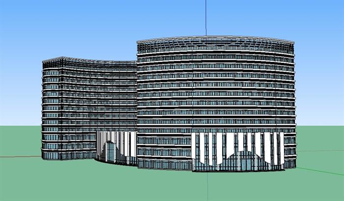 酒店多层详细设计su模型(2)
