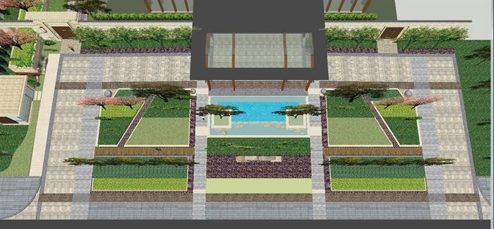 北京保利石佛营中心会所SU设计模型(1)