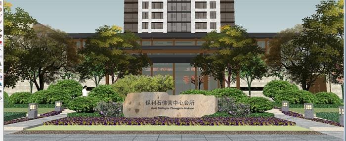 北京保利石佛营中心会所SU设计模型(3)