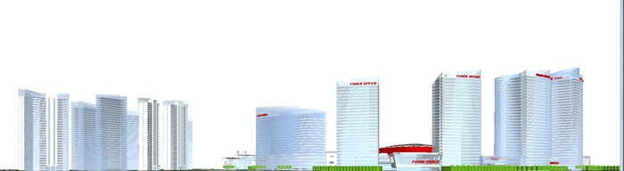 现代商业综合体建筑方案SU设计模型(7)