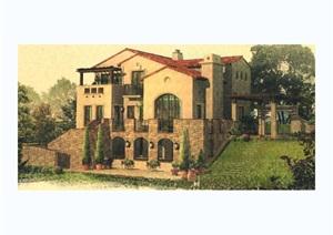 某欧式别墅建筑jpg方案
