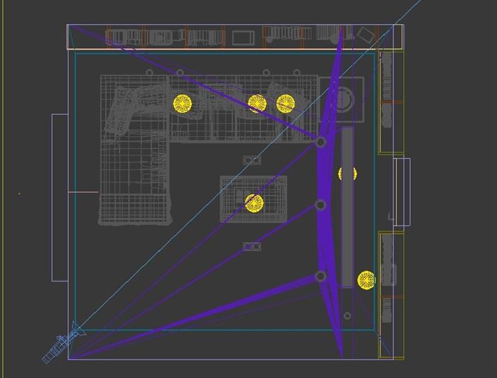 某室内客厅空间设计3d模型(1)