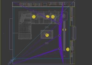 某室内客厅空间设计3d模型