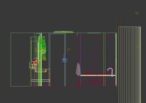 现代室内卫生间空间装饰3d模型