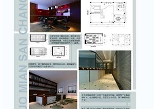 某毕业设计售楼部空间psd展板
