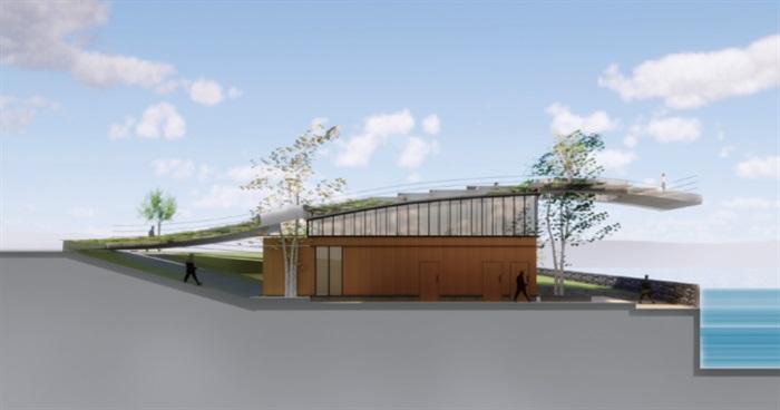 一个现代公园公共卫生间建筑方案su设计模型[原创]