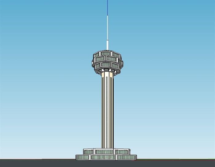 灯塔建筑设计su模型(1)