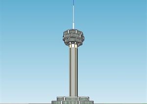 灯塔建筑设计SU(草图大师)模型