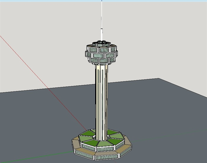 灯塔建筑设计su模型(3)