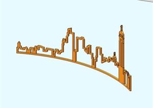 城市景观小品素材设计SU(草图大师)模型