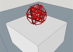 小品素材详细设计SU(草图大师)模型