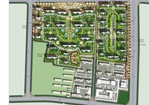 廊坊固安住宅小区景观设计ppt,cad方案图片
