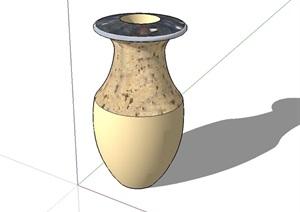 种植器皿花瓶设计SU(草图大师)模型