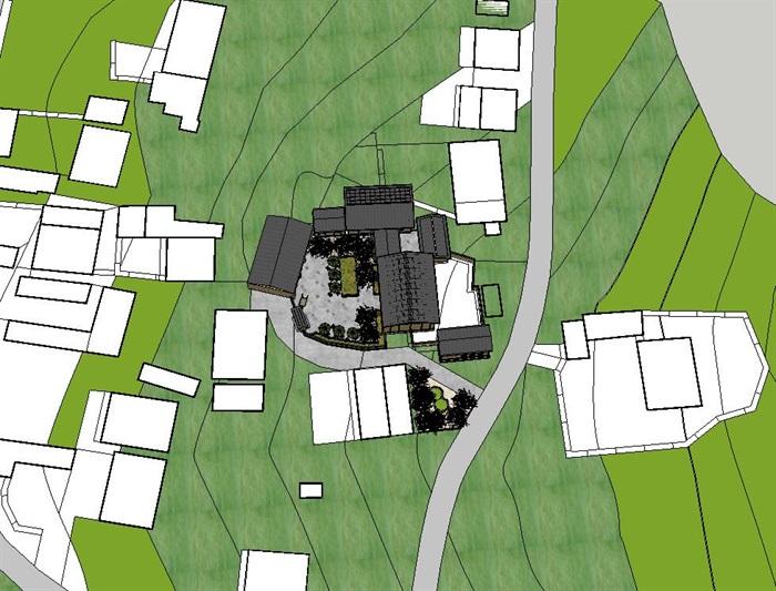 农村农家乐庭院小鱼池设计图展示