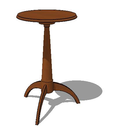 室内木质桌子素材su模型[原创]