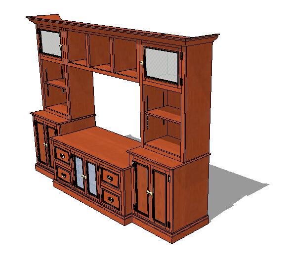现代家具柜子设计su模型[原创]