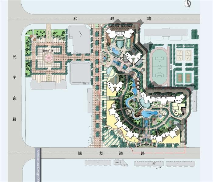 某方案文本平面v方案建筑设计jpg绿洲高清城市[要求]应聘高级住宅设计师原创图片
