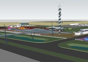 现代房车露营体验公园景观方案SU(草图大师)设计模型