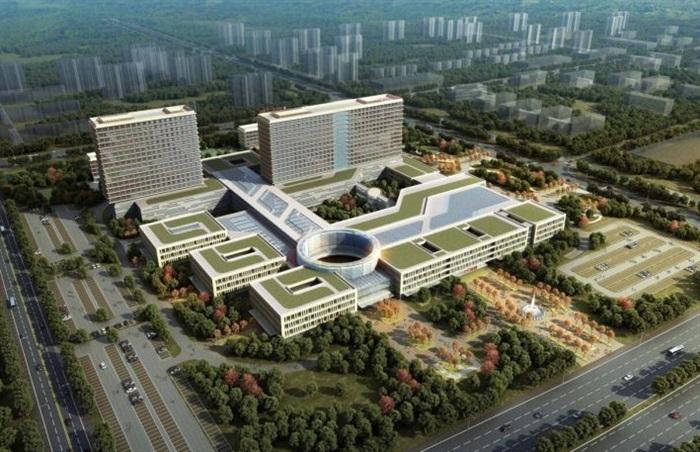 现代二甲县级人民医院建筑规划jpg方案su设计模型
