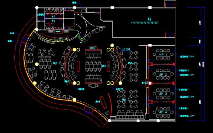 優秀咖啡廳畢業設計CAD施工圖3D模型帶15張效果圖