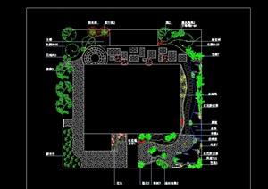 现代别墅庭院景观绿化设计平面图
