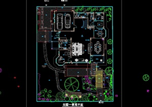 别墅庭院景观绿化平面图