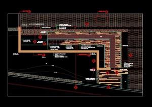 现代环岛水景设计cad施工详图
