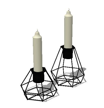 室内蜡烛台素材设计su模型[原创]