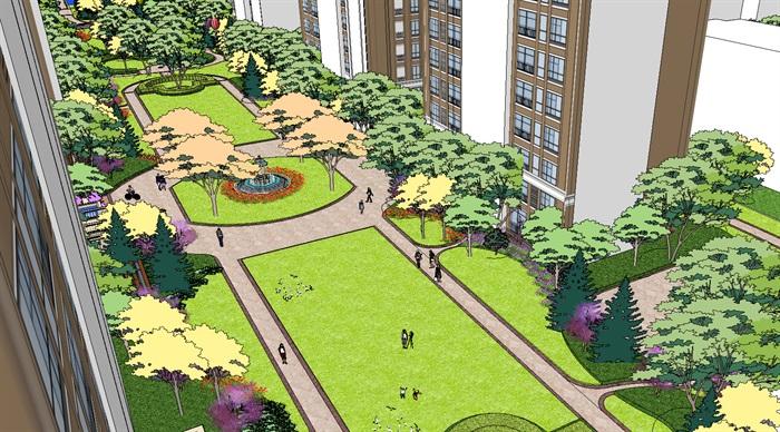 某精细的欧式小区景观设计su模型,模型为欧式风格,模型包含了景观及建筑设计,模型有材质贴图,制作详细独特精致完整,具有一定的使用价值,欢迎下载。