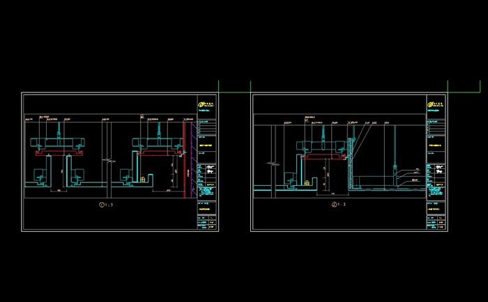 吊頂鋁板圖紙加工設計cad施工圖(2)