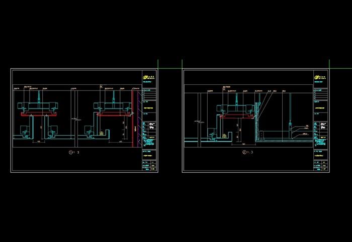 吊顶铝板图纸加工设计cad施工图(1)
