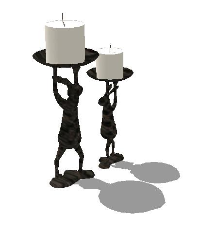 某独特的蜡烛台素材设计su模型[原创]