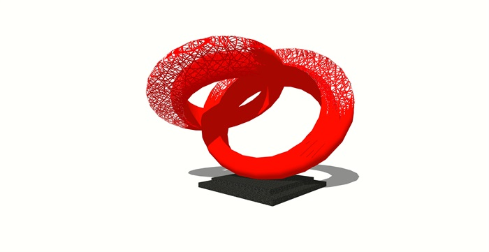 现代创意商业景观雕塑小品完整su模型[原创]