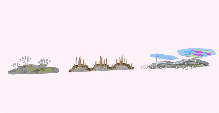 创意景观雕塑小品素材设计su模型[原创]