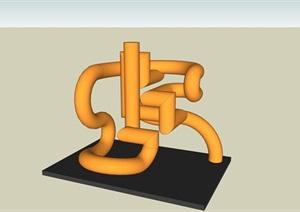景观管子抽象小品素材SU(草图大师)模型