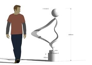 不锈钢小品素材设计SU(草图大师)模型