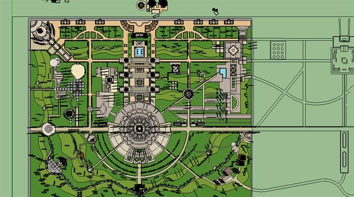 现代风格休闲公园景观环境su模型[原创]