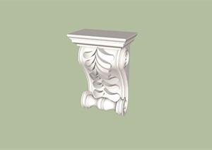 某欧式柱子构件素材设计SU(草图大师)模型