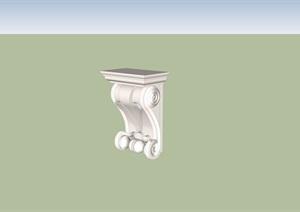 某欧式柱子构件设计SU(草图大师)模型