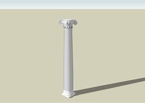 某欧式景观柱子素材设计SU(草图大师)模型