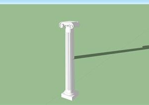欧式柱子罗马柱设计SU(草图大师)模型